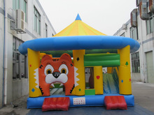 Inflatable Lion Moonwalk Baby Bouncer ,jumping bouncer as baby chair ,Jumping Inflatable Toys