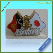 custom design metal flags lapel pins with gold color plated