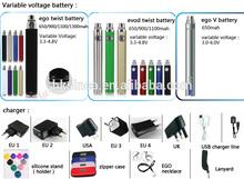 Alibaba Hot sale!!! best electronic cigarette ego twist battery evod twist , 1300mAh ego diamond battery 3.3v-4.8v