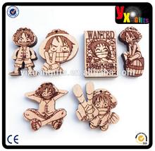 key chain gps tracker/bottle bag clip/little cartoons shaped Wooden Keychain
