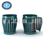 street stainless steel double handmade waste bin
