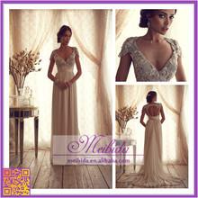 Egypt Wedding Dress Detachable Skirt Crystal Real Bridal Gown Vestidos de Festa Woman Frock with Cap Sleeve