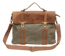 classic canvas bag leather handled laptop bag