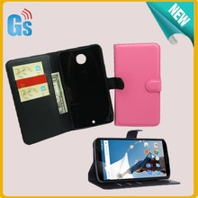 Retail Shop Wallet Leather Case For Google Nexue 6 Flip Cover For Motorola Nexus X XT1100