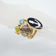 Hot fashion gold epoxy rings