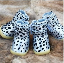 Pet dog warm autumn and winter shoes, waterproof shoes, small dog puppy