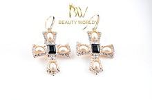 Beauty Worldy rhinestone crosses for earrings
