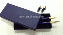 imprint your logo customized metal gift pen set as business gift