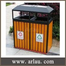 BW273 Outdoor Trash Bin Wooden Waste Bin with Ashtray