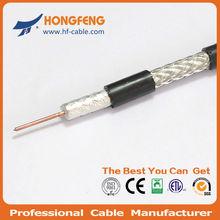 Solid Copper conductor Al/Pet foil/Al. braiding Shield RG59 coaxial cable