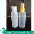 yuyao yuhui caliente venta no derrame del pe buena química de plástico de la botella
