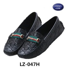 Global hot selling new printed metal buckles leather shoes girls' shoe