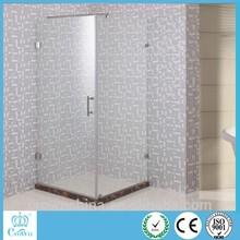 Cerniera doccia in vetro con supporto a barre standard cabina doccia senza telaio per l'Africa