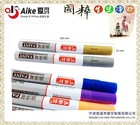 12 colors Aluminum Barrel Paint Marker for metal