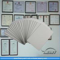 RFID card/ID card/PVC card, High Quality silver foil rfid business card printing