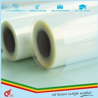 100micron PET coated digital printing milky clear screen printing film, waterproof inkjet translucent film