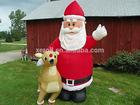 Funny cheap husky dog christmas animated inflatable