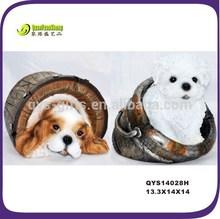 Wholesale outdoor garden yard decorative polyresin garden dog