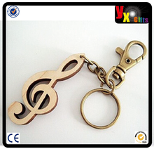 logo letters bag die casting/moustache for bottle/Musical Notes shaped Wooden Keychain