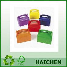 Dozen Cardboard Bright Colors Treat Boxes