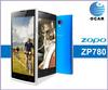 "Original 5.0"" ZOPO ZP780 Smartphone MTK6582 Quad core 1.3GHZ Android 4.2 1GB RAM 4GB ROM 5.0MP+8.0MP camera 3G/GPS Mobile Ph"
