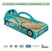 Children Lovely Wooden Single Car Shape Bed Quite Kids Car Bed Nursery School Furniture