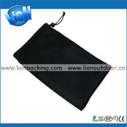 Fashionable hot sale silver design mesh pouch