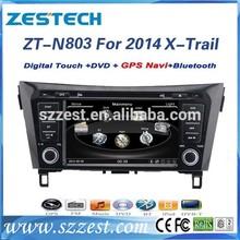 ZESTECH car gps navigation touch screen for nissan xtrail 2014 navigation system