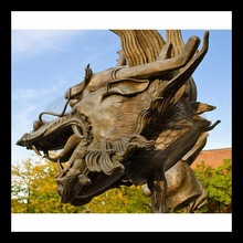 High quality outdoor decoration bronze dragon figurine