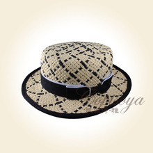 unisex gift hat 2015 Fashion Handmade straw hat party knitted boater hat