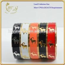 2015 fashion zodiac enamel bracelet