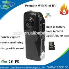 Hot new Portable Pocket Camera Wifi Mini DV Flash Memory SD/ TF card Portable Mini WiFi Sport IP camera Drive Recorder