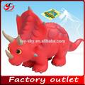 الوردي لعبة الفينيل لعبة الحيوان لعبة الديناصورات ترايسيراتوبس