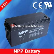 12V 150AH Alibaba China Sealed Lead Acid Deep Cycle Battery Solar