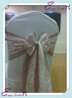 YHS#106 hessian burlap sash chair cover band - polyester banquet wedding wholesale chair cover sash band table cloth linen