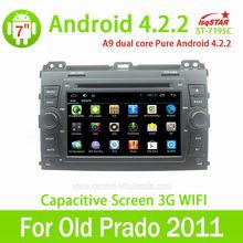 Ventas al por mayor Central multimedia androide capacitivo 4.2.2 Toyota viejo Prado 2011 de radio auto del coche gps navi