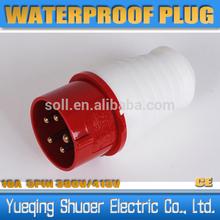 16A 32A 63A 125A Industrial Plug 2P+E 3P+E 3P+N+E
