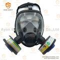 Esférico de cara completa anti- gas personalizado máscara respirador máscara de gas con rd40 doble conector para protección- ayonsafety