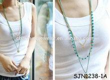 Multi Layers Long Necklace Handmade Beaded Jewelry