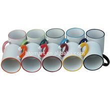 11oz Sublimation Coated Rim Color Mug