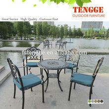 demir sandalye dökme alüminyum döküm tabla veranda metal masa ve sandalye