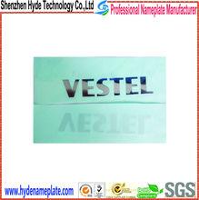 Good quality self-adhesive label metal sticker custom logo