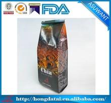 eco-friendly valve seal coffee bag with tin tie