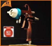 97 2014 hot on sale high quality chrome paint dual nozzle spray gun