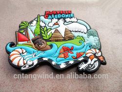 custom soft pvc rubber france souvenir fridge magnet