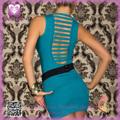 blau sexy minikleid mit gürtel frauen modemarkt kleid 2014