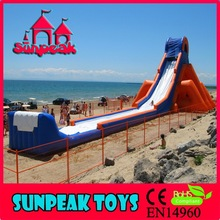 2014 China Supply Fast shippign Large Inflatable Wholesale Long Water Slide