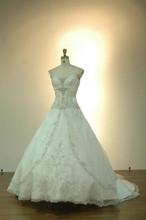Empire Waist Embroidered Beads Wedding Dress