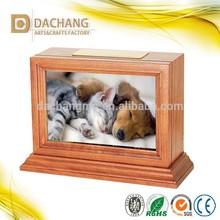 wooden pet frame cremation urns