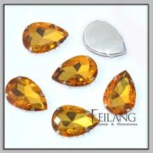 A grade pearl shape fancy crystal stone